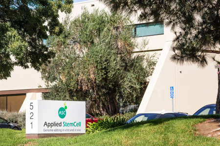 Sep 24, 2020 Milpitas / CA / USA - Applied StemCell headquarters in Silicon Valley; Applied StemCell Inc is a biotechnology company providing animal and human cell line models for drug development