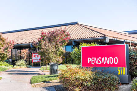 Sep 24, 2020 Milpitas / CA / USA - Pensando headquarters in Silicon Valley; Pensando Systems develops new edge services models of enterprise and cloud computing Editorial
