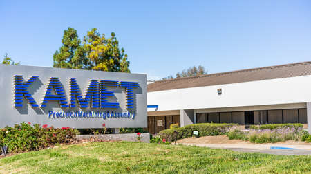 Sep 24, 2020 Milpitas / CA / USA - KAMET headquarters in Silicon Valley; KAMET provides precision machining, engineering, assembly and supply chain management services for various industries