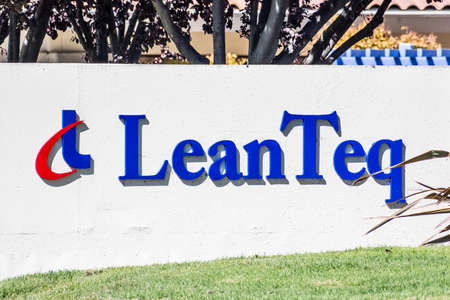 Sep 24, 2020 Milpitas / CA / USA - LeanTeq logo at their headquarters in Silicon Valley; LeanTeq Co., Ltd., which operates in the semiconductor industry, was acquired by EnPro Industries in 2019 Editorial