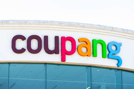 Sep 26, 2020 Mountain View / CA / USA - Coupang logo at their headquarters in Silicon Valley; Coupang Corporation is a South Korean e-commerce company;