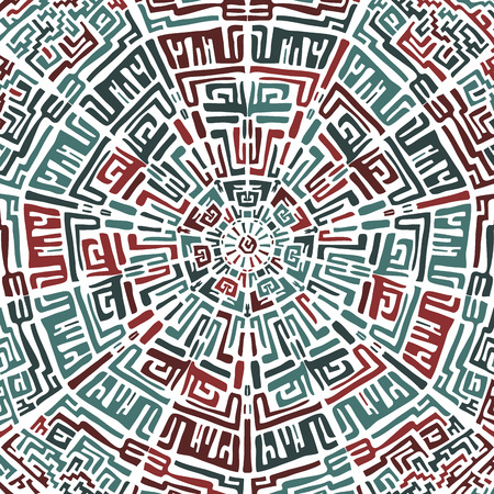 peruvian: Ethnic round pattern in the peruvian style