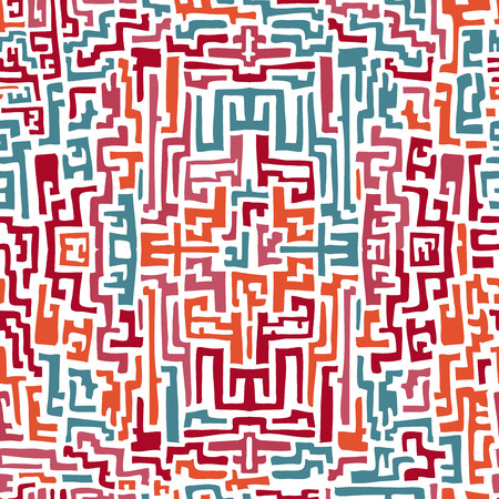 민족 스타일에서 다채로운 원활한 패턴입니다. 벡터