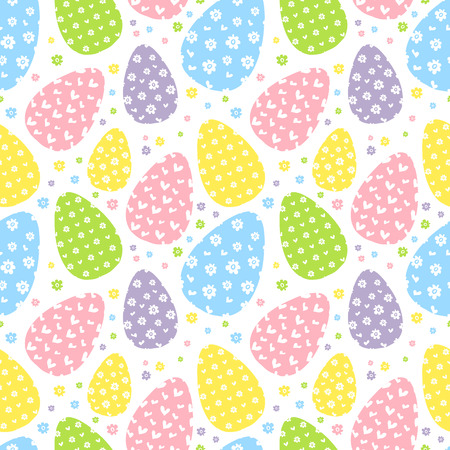 osterhase: Seamless Easter pattern. Pastel colors. Simple pattern. For Easter background. Vector
