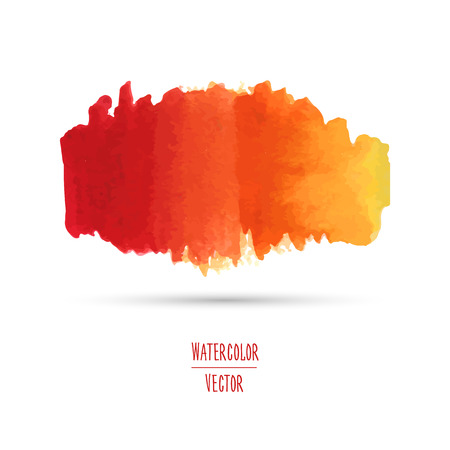 Watercolor spot with a gradient from red to yellow. Template graphics, banners, logos, backgrounds, textures. Vector