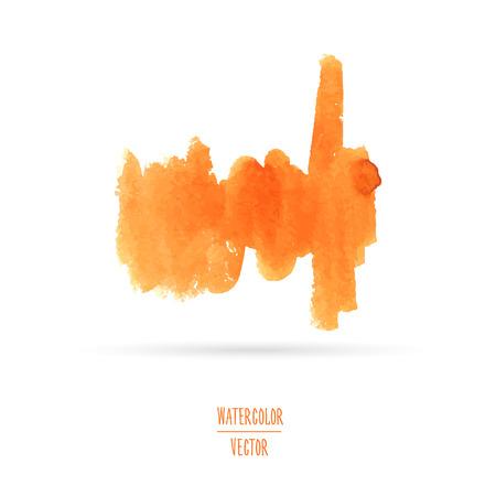 Aquarell Orange Stelle. Template Grafiken oder Texturen. Vector Vektorgrafik