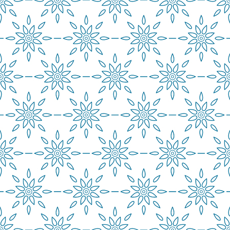 centric: Seamless wallpaper with retro pattern of geometric linear colors. Good for fabric, background, elegant style. Vector illustration