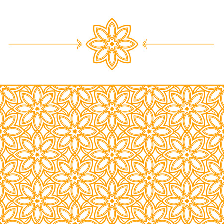 pattern geometric: Seamless wallpaper with geometric, linear pattern in eastern style. Geometric linear element of a flower. Vector