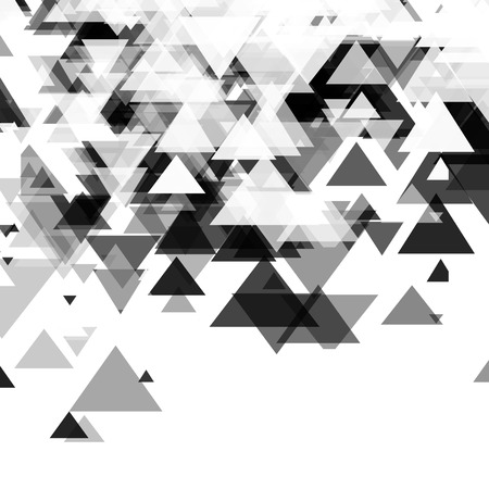 slide show: Abstract, technology, futuristic monochrome background with a pattern of triangles. Template design for slide show, presentation,  identity, poster.