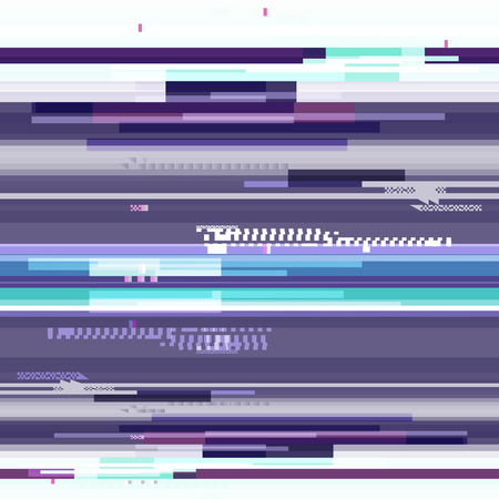 purple wallpaper: Abstract purple wallpaper in the style of a glitch pixel. Purple geometric pattern noise. Grunge, modern background with dead pixel and bug, glitch and error signal. Vector Illustration