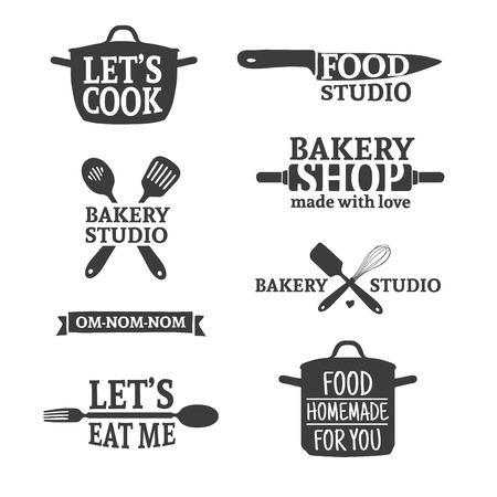 Template silhouette cutlery. Vector Illustration