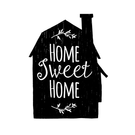 homely: Hand drawn typography poster for interior. Conceptual handwritten phrase Home Sweet Home. Inspiration poster for home. Inspiration vector typography. Typographic print poster. Vector illustration