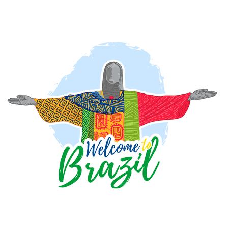cristo: Banner, poster, sign, invitation Welcome to Brazil.