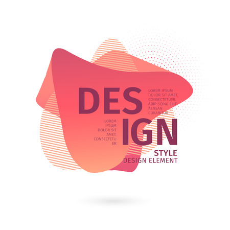 Unique abstract graphic elements. Banner with a gradient shape. Design template for presentation or flyer. Abstract forms with dynamic composition. Minimal mesh background. Modern style flow vector. 스톡 콘텐츠 - 121164941