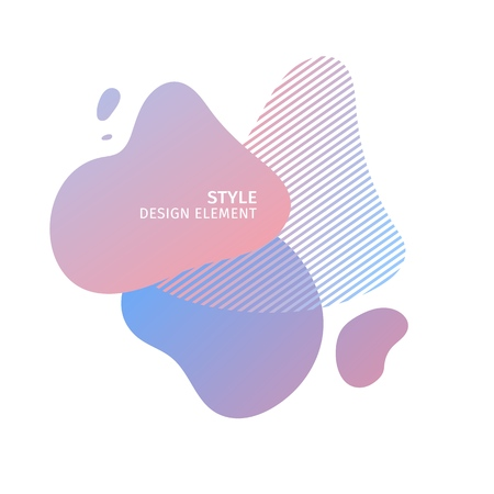 Abstract modern graphic elements. Dynamical pastel color  form and line. Gradient abstract banner with plastic liquid shapes. Template for the design of a logo, flyer or presentation. Vector 스톡 콘텐츠 - 121164949