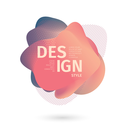 Unique abstract graphic elements. Banner with a gradient shape. Design template for presentation or flyer. Abstract forms with pastel dynamic composition. Minimal mesh background. Modern style vector 스톡 콘텐츠 - 121164956