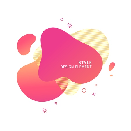 Abstract modern graphic elements. Dynamical pink color  form and line. Gradient abstract banner with plastic liquid shapes. Template for the design of a logo, flyer or presentation. Vector 스톡 콘텐츠 - 121164957