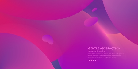 Trendy minimal abstract background with futuristic shape. Gradient color wallpaper with fluid element. Vector 스톡 콘텐츠 - 121164962