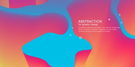 Abstract wallpaper with 3d dynamic shape. Background with motion forms. Futuristic  trendy backdrop. Modern layout. Science glow graphic. Vector 스톡 콘텐츠 - 121164969