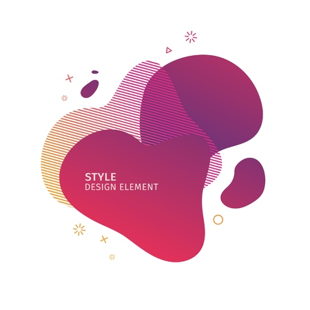 Abstract modern graphic elements. Dynamical pink color  form and line. Gradient abstract banner with plastic liquid shapes. Template for the design of a logo, flyer or presentation. Vector. 일러스트