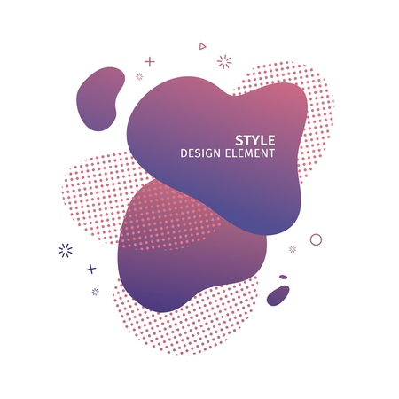 Abstract modern graphic elements. Dynamical  purple color  form and line. Gradient abstract banner with plastic liquid shapes. Template for the design of a logo, flyer or presentation. Vector. 스톡 콘텐츠 - 121164973