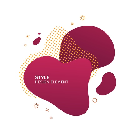 Abstract modern graphic elements. Dynamical pink color  form and line. Gradient abstract banner with plastic liquid shapes. Template for the design of a logo, flyer or presentation. Vector. 스톡 콘텐츠 - 121164975