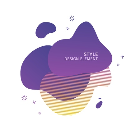 Abstract modern graphic elements. Dynamical  purple color  form and line. Gradient abstract banner with plastic liquid shapes. Template for the design of a logo, flyer or presentation. Vector. 스톡 콘텐츠 - 121165005