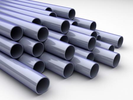 3D chrome tubes - high technology background