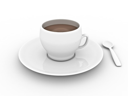 Cup of chocolate isolated on white backround