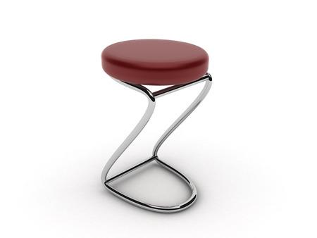 Bar stool isolated on white background photo
