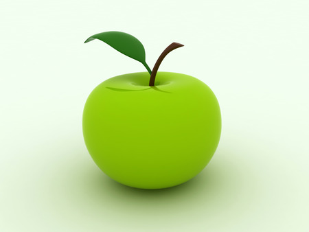 Image of beautiful green juicy apple 版權商用圖片