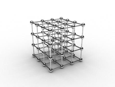 Isolated illustration of chrome steel grid