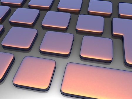 High resolution 3D keyboard without characters 版權商用圖片