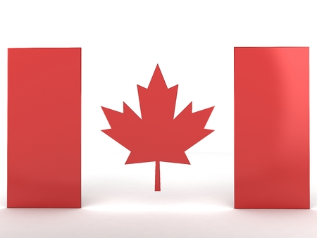 nationalities: Flag of Canada, 3d render Stock Photo