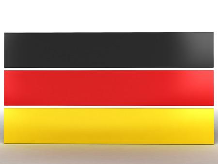 flag of Germany, 3d render 版權商用圖片
