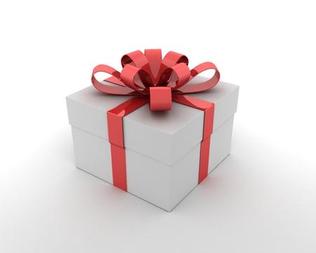 gift box on a white background, 3d illustration