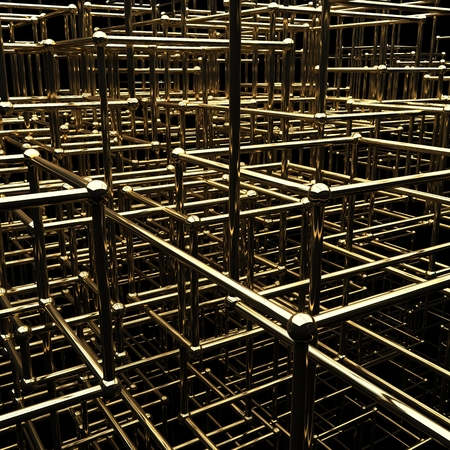 Gold frames, abstract 3d background 版權商用圖片