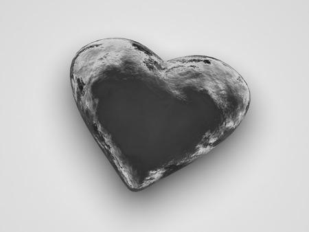 Ice Heart on white background