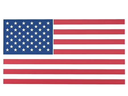 United States flag, 3d render