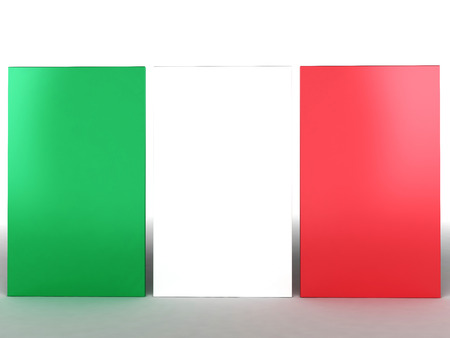flag of Italy, 3d render