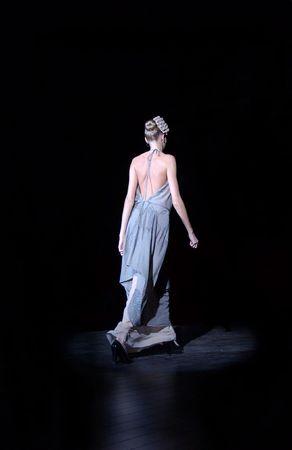 show case: fashion show by ukrainian fashion week  Stock Photo