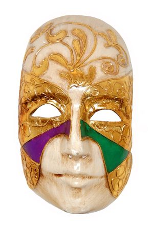 Venetian mask on white background Stock Photo