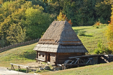 watermill: Ancient hut with watermill Editorial