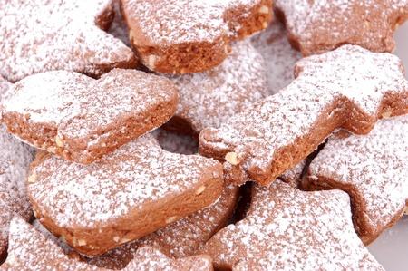 noel chocolat: Cookie de No�l au chocolat, isol� sur fond blanc