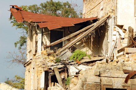 Ruined old building without doors and windows Stock Photo - 8860599