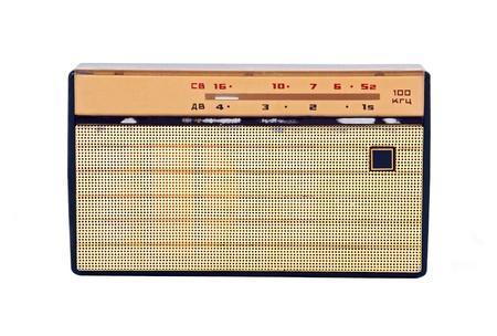 Soviet retro radio, isolated on white background photo