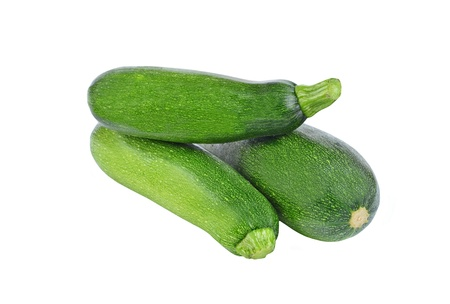 spotty: Green vegetable marrow (zucchini), isolated on white background Stock Photo