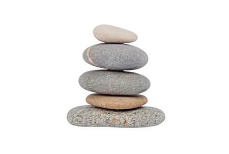 mental object: Pile of pebble stone, isolated on white background