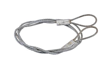 interlocked: Interlocked wire loop rope, isolated on white background