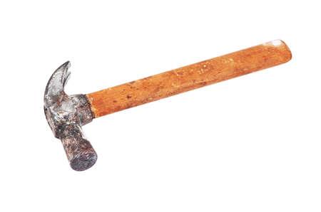 Rusty shoemaker hammer, isolated on white background Stock Photo - 12680164